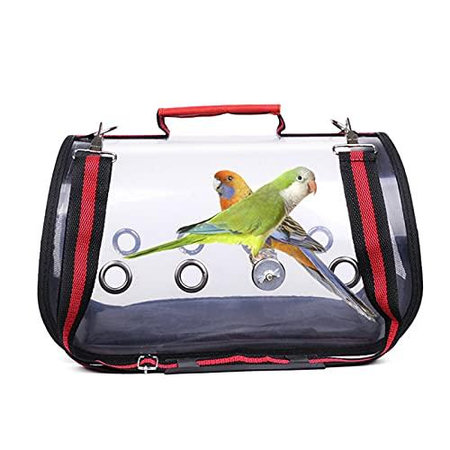 A/A Pet Bird Travel Bag,Portable Pet Bird Parrot Carrier Transparent Breathable Travel Cage,Lightweight Bird Carrier and Small Animals Carrier,Multifunctional Pet Bag 32x17x18cm