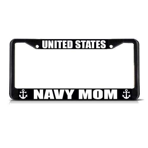 Fastasticdeals United States Navy Mom License Plate Frame Tag Holder Cover