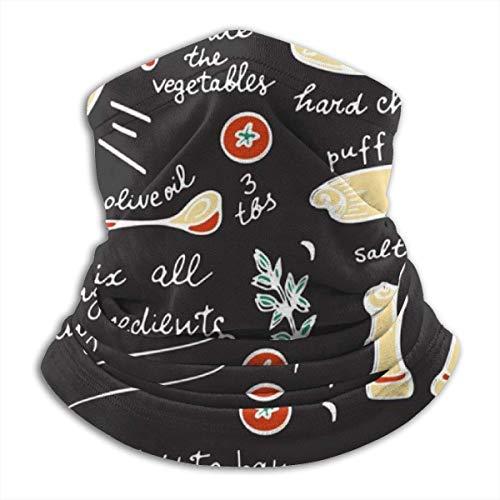 Feeling-Right Bunte Gemüse Quiche Rezept Stirnband Gesichtsschutz Bandana Kopfwickel Schal Hals Halswärmer Kopfbedeckung Sturmhaube für den Sport