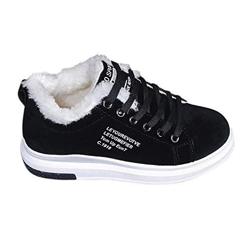 YWZQ Mujer de corte bajo Zapatos de plataforma Invierno Plus terciopelo algodón suela gruesa caliente zapatos gruesos zapatos zapatillas de deporte