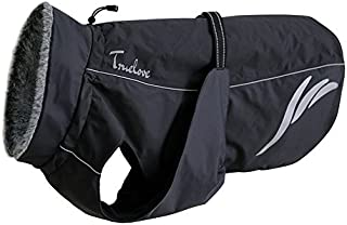 TRUE LOVE Mt. Tallac Winter Dog Coat - Technical Jacket is Waterproof, Windproof, Reflective, Insulated with Thick Fleece Lining, and Easily Adjustable to Small or deep Chested Dogs.