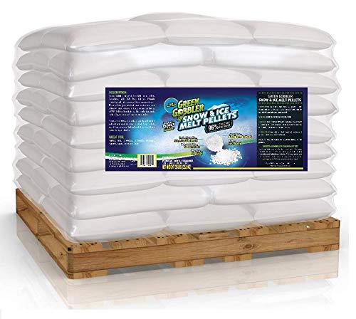 EcoClean Solutions 96% Pure Calcium Chloride Snow & Ice Melt Pallet | Peladow Equivalent | Bulk Ice Melt | Ice Melt Pallet - 2400 lb Pallet | 60 x 40 Pound Bags