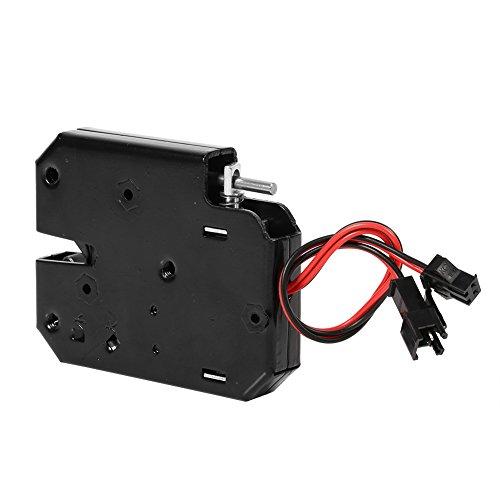 Cerradura eléctrica de 12 V CC, 2 A, interruptor de cajón, diseño independiente, cierre de bloqueo, control de acceso para armario, cajón, acero al carbono