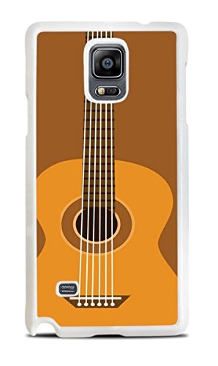 Acoustic Guitar White Hardshell Case for Galaxy Note 4