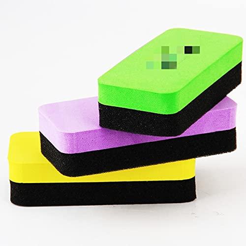 Franela Magnética Borrador de pizarra blanca Limpiador de pizarra Borrador Niños Plancha Plancha Escuela Oficina Especial Papelería (Color : Random color 1pcs)