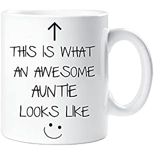 This Is What An Awesome Auntie Looks Like V2 Mug Mothers Day Birthday Christmas Cup Gift
