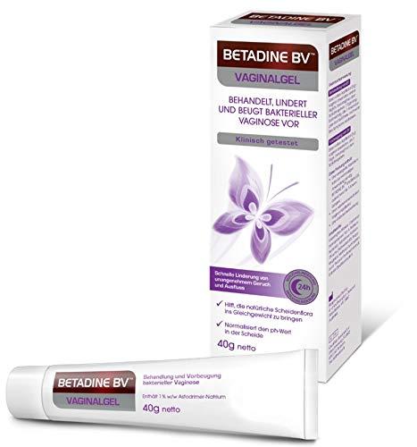 Betadine BV Vaginalgel 40 g, bei bakterieller Vaginose, Verbessert die Scheidenflora, – klinisch getestet (1) – Antibiotika-frei – inklusive Applikator