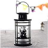 Lámpara de chimenea de llama Simulación Luces de llama Festival de fantasmas Bruja fantasma Lámpara de aceite portátil Accesorios de decoración Decoración con velas Decoración de Halloween Lámpara d