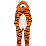 Disney Boy's Tigger Hooded Coverall Onesie with Ears, 100% Cotton, Orange, Size 6M