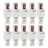 HUAHUA JUSU Store 10 x Conectores de Red sin Herramientas RJ45 CAT6 LAN UTP Cable de Cable sin Herramientas CAT5 CAT7 Instalación Cable de conexión Cable (Color : White)