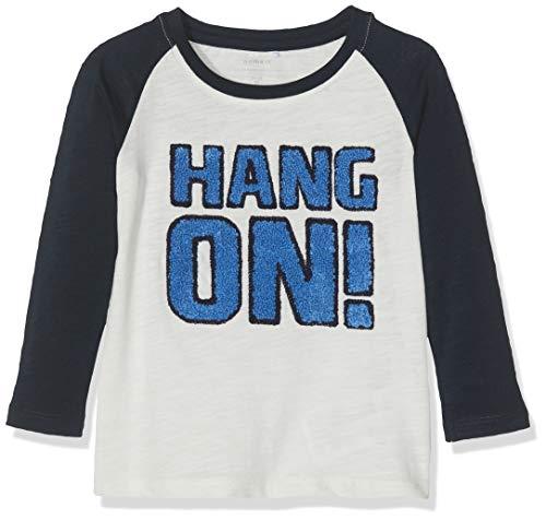 Name It Nmmmickey Basil Ls Top Wdi T-Shirt À Manches Longues, Multicolore Dark Sapphire, 92 Bébé garçon