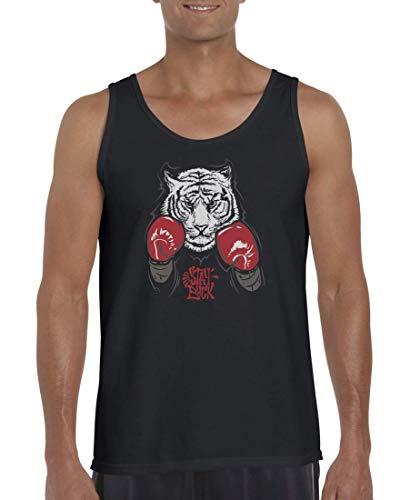 Druckerlebnis24 Tank Top - Stay Buck Tiger Boxhandschuhe - Muskelshirt für Männer und Herren