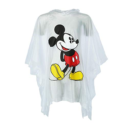 Jerry Leigh Disney Kid's Classic Mickey Mouse Rain Poncho, Clear