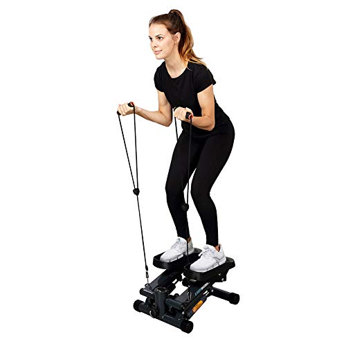 Exerpeutic EXERWORK 850 Bluetooth Smart Cloud Fitness erweiterte Kapazität Mini Stepper mit einstellbarer Schritthöhe, kostenlose App und Trainingszieleinstellung