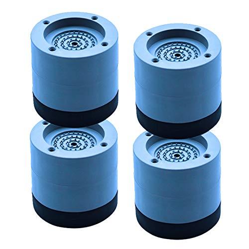 Pacote com 4 calços de borracha para pés de máquina de lavar, antivibração e anti-deslocamento, para evitar movimentação e deslizamento, para redução de ruído de máquina de lavar e secar