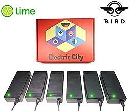 Lime Scooter Charger 6-Pack | Bird, Lime-S, Mijia M365, Segway Ninebot Es4, Es2, Es1 Compatible.