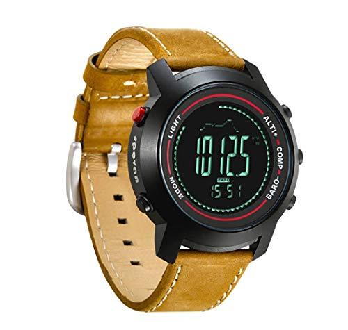 Mygsn Watch Outdoor-Sport-Multifunktions-Uhr leuchtende wasserdichte intelligente Uhr läuft Bergsteigen Watch (Farbe : Gelb)