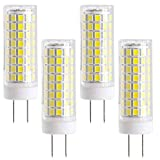 LXcom G8 LED Bulb 10W Ceramic Corn Light Bulbs(4 Pack)-2835 SMD 102 LEDs 80W Halogen Bulb Replacement 6000K Daylight White 1000LM G8 Base for Kitchen Under Cabinet Counter Lighting Puck Light