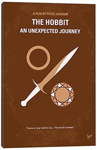 iCanvasART el Hobbit: un viaje inesperado mínimo Póster de la película impresión DE lona, 26″…