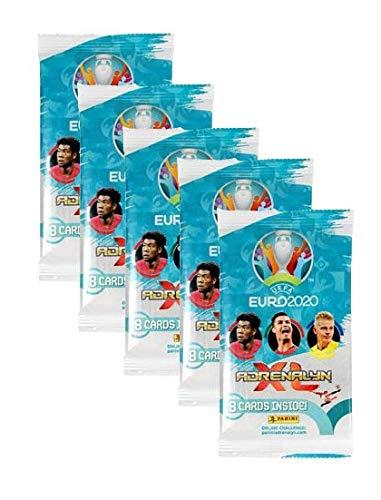 Unbekannt Panini Adrenalyn XL UEFA Euro 2020 Trading Card 5 Booster – 40 carte