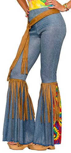 Forum Novelties Women's Hippie Costume Bell Bottoms, Blue/Brown, Medium/Large 1960's Womens Accessories Belt