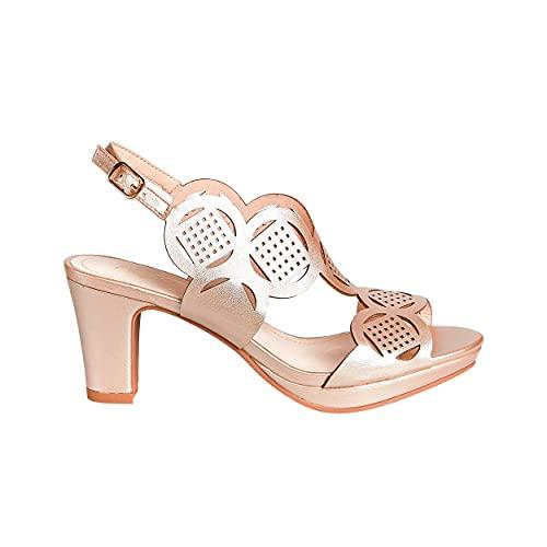 PRESTIGIO Calzado Mujer Spring/Summer 2021 Zapato de Tacón para Fiesta, Bodas Eventos...