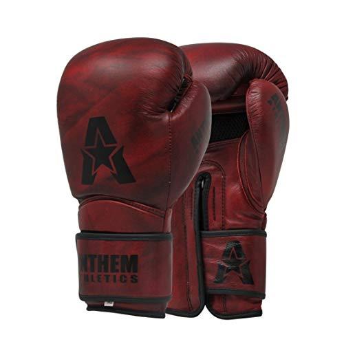 Anthem Athletics STORMBRINGER II Leather Boxing Gloves - Muay Thai, Kickboxing, Striking - Iron Oxblood - 16 oz.