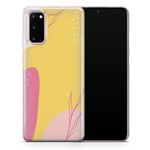 Carcasa para Samsung Galaxy S20, diseño abstracto pastel de Memphis neutro suave y acuarela transparente de gel suave para Samsung Galaxy S20, diseño 1 – A9