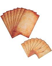 BELIOF vintage artykuły piśmiennicze zestaw 25 arkuszy papieru listowego i 25 formatów kopert DIN A4 w stylu retro do pisania i drukowania do DIY