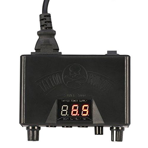 Máquina de suministro de energía para tatuajes con pantalla de visualización digital y diseño de energía cambiable para forro y sombreador(EU)