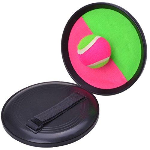 Filmer Ballspiel mit Kletthalterung (grün/pink)