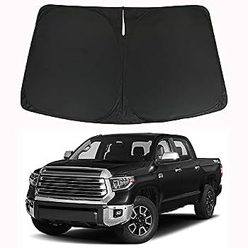 Winunite Windshield Sun Shade Compatible with Toyota Tundra 2007-2022 - Foldable SUV Front Window Sunshade Auto Heat Shield UV Reflector Sun Protection
