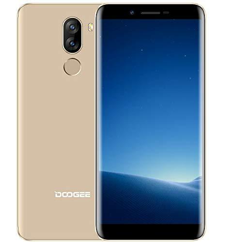 DOOGEE X60L - Schermo HD da 5,5'(rapporto 18: 9) Smartphone 4G LTE, cellulare Android 7.0 MTK6737 Quad Core da 2 GB + 16 GB, batteria 3300 mAh impronta digitale - Oro