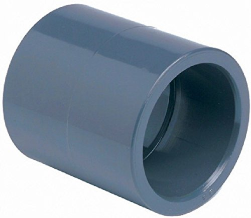 PVC Muffe 40mm mit 2 Klebemuffen bis 10Bar TOP Qualität