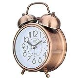 Relojes de Alarma Creativo Retro Reloj de Alarma de Bronce Antiguo Reloj Redondo...