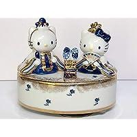 ハローキティ 陶器 吉徳 はろうきてぃ 雛人形 回転式 オルゴール フィギュア ひな祭り 2000年 サンリオ