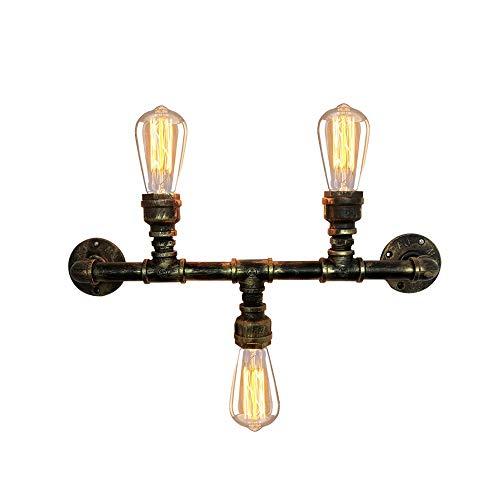 Msoteey E27 Vintage Loft industrial Tubería de agua de la lámpara de...