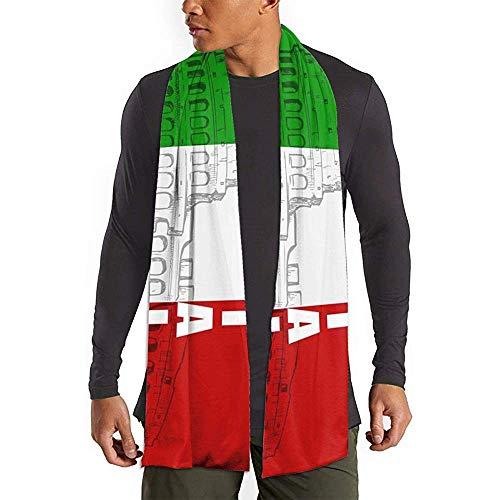 Beibao-shop Roman Colosseum Italienischer Flaggendruck Schal Mode Lange Schals Großer warmer Schal Schal für Frauen/Männer