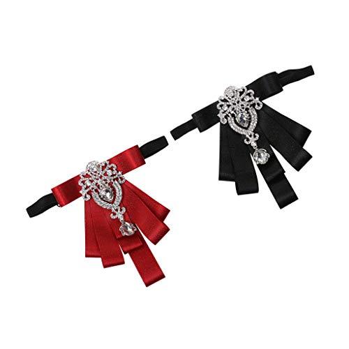 B Baosity Nœud Papillon Homme, Lot de 2 Cravate Lavallière Nœud Papillon et Réglable pour Soirée Business Mariage Cérémonie Fête Costume Necktie