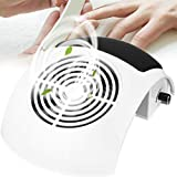 Nail Dust Collector 80W Powerful Nails Vacuum Cleaner Machine Professional Nail Suction Machine Nail Dust Fan Collector with 2 Nail Dust Bags for Salon Home Use