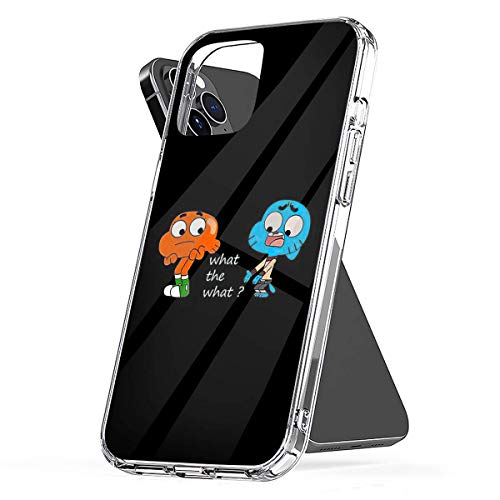 Phone Case The Amazing World of Gumball Gumball and Darwin What The What Compatible with iPhone 6 6s 7 8 X XS XR 11 Pro Max SE 2020 Samsung Galaxy Scratch Accessories