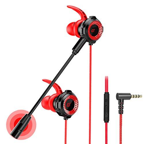 Unknows - Auriculares de juego con cable y micrófono