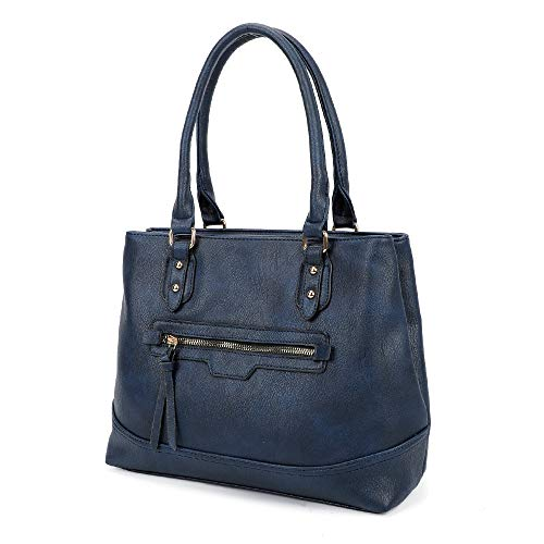LeahWard Large Tote Bags For Women Cross Body Shoulder Handbags Sale (Navy Tote)