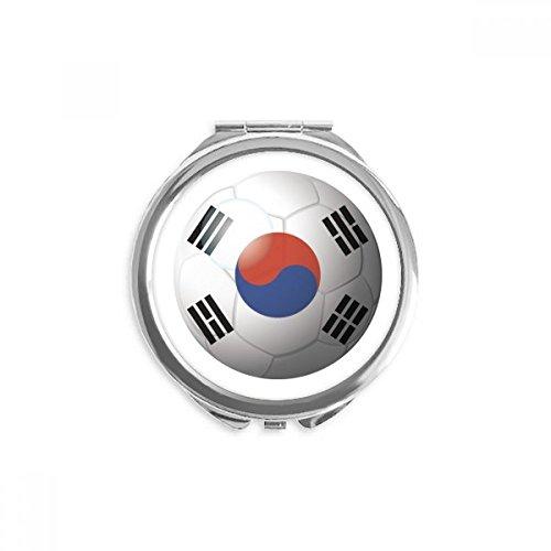 DIYthinker corée du drapeau national de football de football miroir rond maquillage de poche à la main portable 2,6 pouces x 2,4 pouces x 0,3 pouce Multicolore
