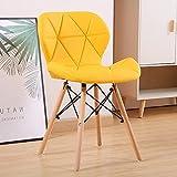 Juego de 4 sillas de comedor modernas tapizadas de mediados de siglo, sillas de cocina con asiento de piel sintética suave y patas de madera para salón, comedor, cocina, dormitorio