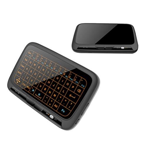 Mobestech 2 4 Ghz Drahtlose Tastatur Touchpad Combo Touchscreen Tastatur mit Hintergrundbeleuchtung Fernbedienung Kompatibel für Android Tv Box Projektor Pc Laptop (Hintergrundbeleuchtung Version)