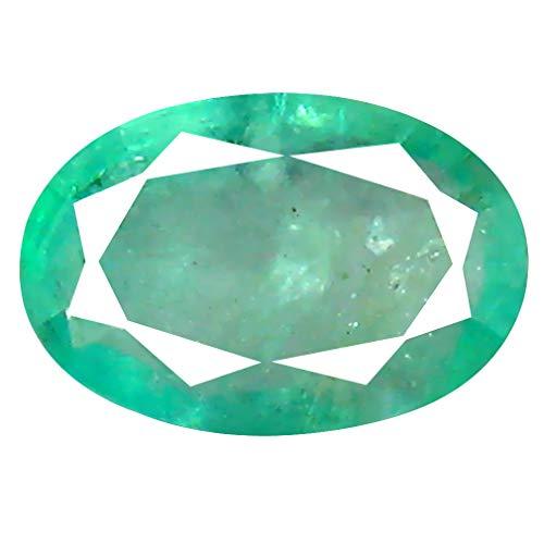 Smeraldo colombiano, taglio ovale da 0,88 ct (7 x 5 mm)