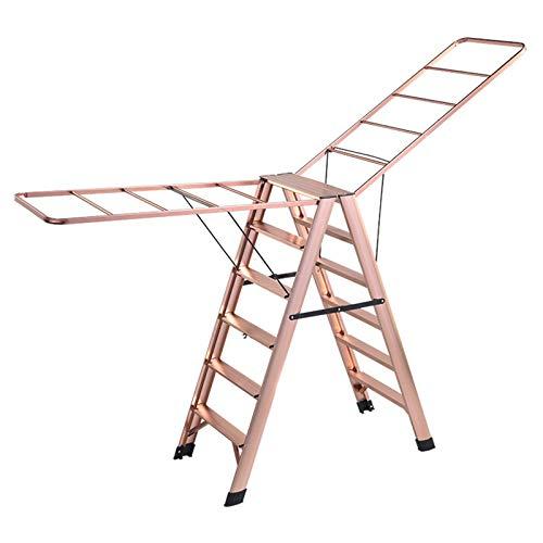 QCBC Kleiderständer Boden teleskopisch Außen Schlafzimmer Trag Ladder Climbing Ladder Einfache Rolltreppe Balkon