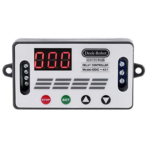 BIlinli DC 12V DDC-431 Zeitrelais-Schalter Digitale LED-Anzeige Verzögerungsregler MOS