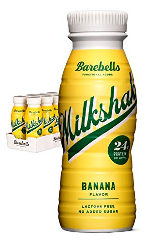 Barebells Protein Milkshake | Banana | 8 x 330ml Bottles | High Protein Shake | No Added Sugar | Lactose Free | 24g of Protein | Delicious Creamy Flavour